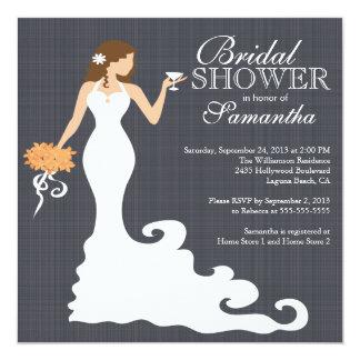 Invitaciones nupciales de la ducha del otoño del invitación 13,3 cm x 13,3cm