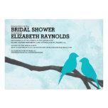 Invitaciones nupciales de la ducha del pájaro azul