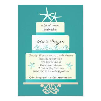 Invitaciones nupciales de la ducha del pastel de invitación 12,7 x 17,8 cm