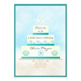 Invitaciones nupciales de la ducha del pastel de invitacion personalizada