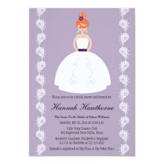 Invitaciones nupciales de la ducha del Redhead de Invitación Personalizada