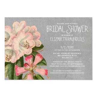 """Invitaciones nupciales de la ducha del rododendro invitación 5"""" x 7"""""""