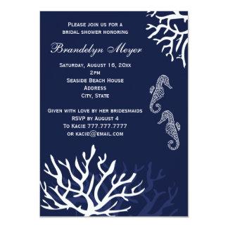 Invitaciones nupciales de la ducha del Seahorse Invitación 11,4 X 15,8 Cm