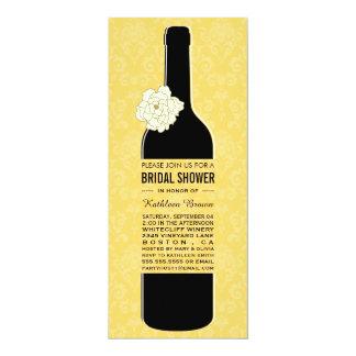 """Invitaciones nupciales de la ducha del vino invitación 4"""" x 9.25"""""""