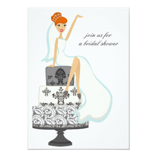Invitaciones nupciales de la ducha {novia invitación 12,7 x 17,8 cm