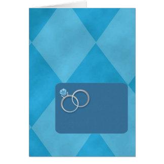 Invitaciones nupciales de la ducha tarjeta pequeña