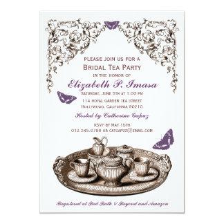 Invitaciones nupciales de la fiesta del té del anuncios personalizados