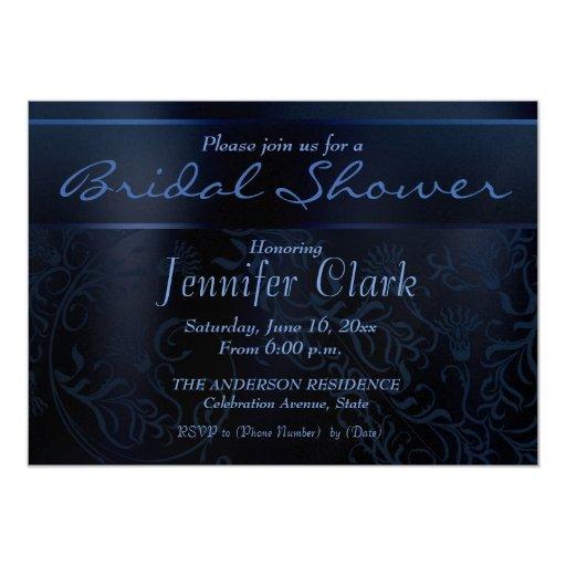 Invitaciones nupciales elegantes de la ducha de la invitación