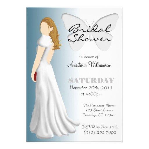 Invitaciones nupciales elegantes de la ducha de la invitacion personal
