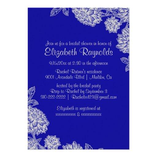 Invitaciones nupciales elegantes de la ducha del a invitaciones personalizada