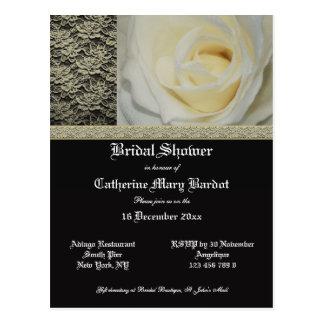 Invitaciones nupciales elegantes de la ducha postales