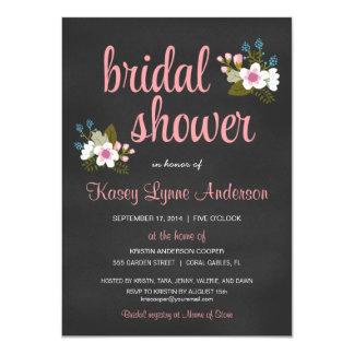 """Invitaciones nupciales florales de la ducha de la invitación 4.5"""" x 6.25"""""""