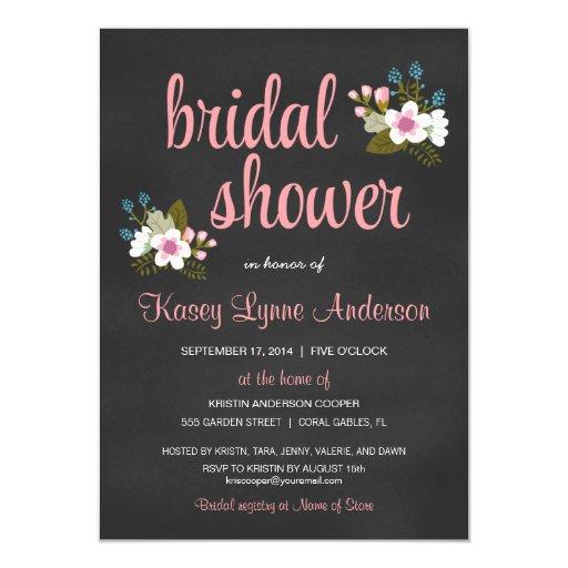 Invitaciones nupciales florales de la ducha de la invitación 11,4 x 15,8 cm