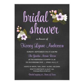 Invitaciones nupciales florales de la ducha de la comunicado personal