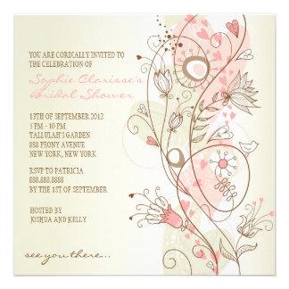 Invitaciones nupciales florales de la ducha del vi invitacion personalizada
