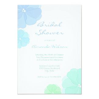"""Invitaciones nupciales florales en colores pastel invitación 5"""" x 7"""""""