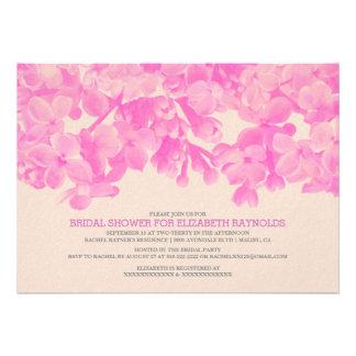 Invitaciones nupciales florales fucsias de la duch