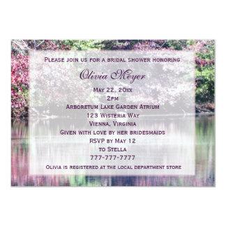 """Invitaciones nupciales florales púrpuras rosadas invitación 4.5"""" x 6.25"""""""