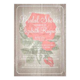 Invitaciones nupciales florales rústicas blancas r