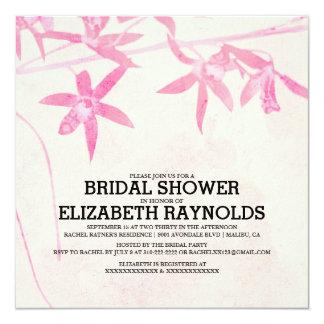 """Invitaciones nupciales florecientes de la ducha de invitación 5.25"""" x 5.25"""""""