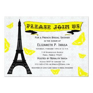 Invitaciones nupciales francesas de la ducha de la anuncio