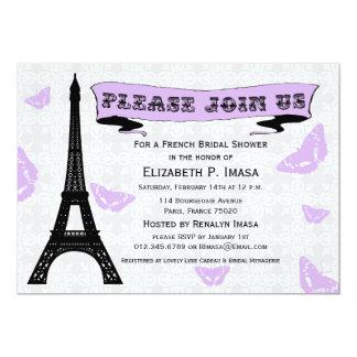 Invitaciones nupciales francesas de la ducha de la anuncios personalizados