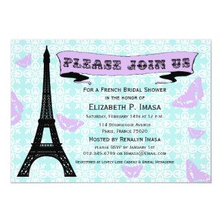 Invitaciones nupciales francesas de la ducha de la invitación