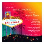 Invitaciones nupciales glamorosas de la ducha de anuncio personalizado