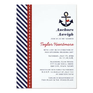 Invitaciones nupciales náuticas de la ducha de los invitacion personal
