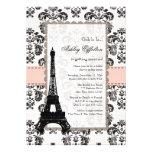 Invitaciones nupciales negras rosadas parisienses