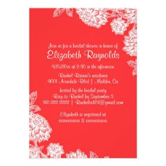 Invitaciones nupciales rojas y blancas elegantes d