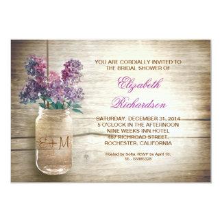 invitaciones nupciales rústicas de la ducha del invitacion personalizada