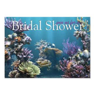 Invitaciones nupciales subacuáticas de la ducha invitación personalizada