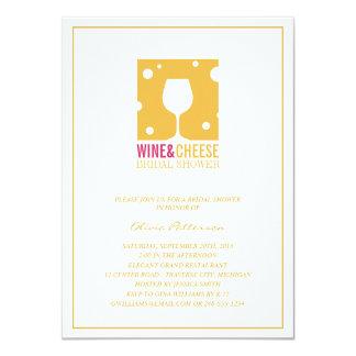 Invitaciones nupciales únicas de la ducha del vino invitación 11,4 x 15,8 cm
