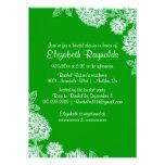 Invitaciones nupciales verdes elegantes de la duch