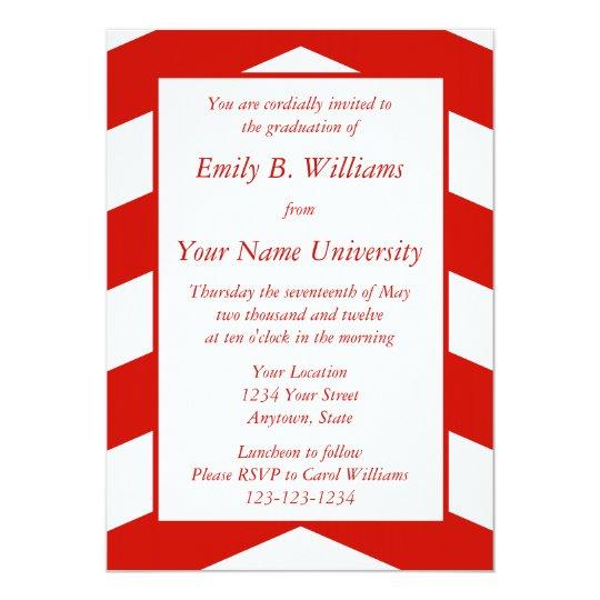 """Invitaciones o invitaciones rojas de la graduación invitación 5"""" x 7"""""""