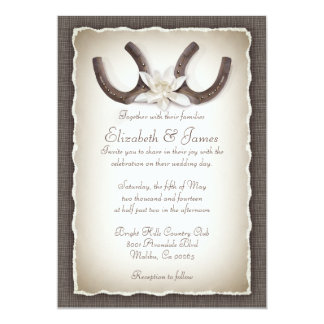 """Invitaciones occidentales del boda invitación 5"""" x 7"""""""