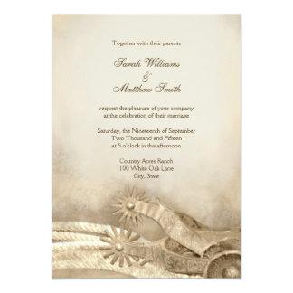 """Invitaciones occidentales del boda del país invitación 5"""" x 7"""""""