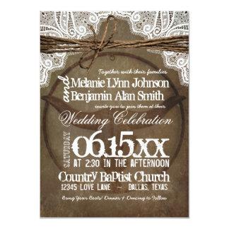 """Invitaciones occidentales rústicas del boda de los invitación 4.5"""" x 6.25"""""""