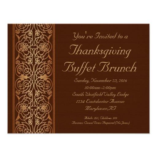 Invitaciones opulentas de la cena o de la comida f anuncios personalizados