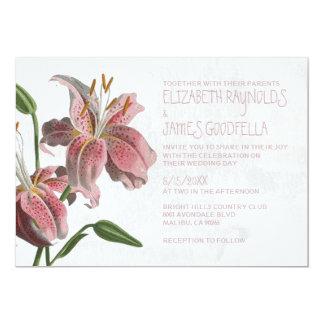 """Invitaciones orientales del boda del lirio invitación 5"""" x 7"""""""