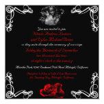 Invitaciones oscuras de encargo del boda del invitación 13,3 cm x 13,3cm