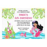 Invitaciones oscuras del cumpleaños de la sirena d comunicado