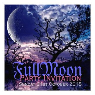 Invitaciones oscuras del fiesta de Halloween de la Anuncios Personalizados