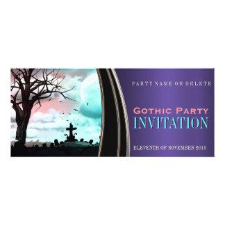 Invitaciones oscuras góticas del fiesta del tema d anuncios personalizados