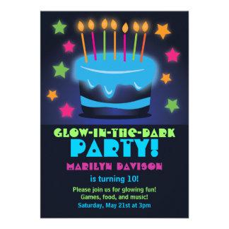 Invitaciones para el resplandor del cumpleaños en