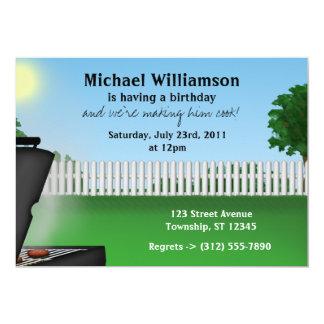 Invitaciones para hombre del cumpleaños del Bbq Invitación Personalizada