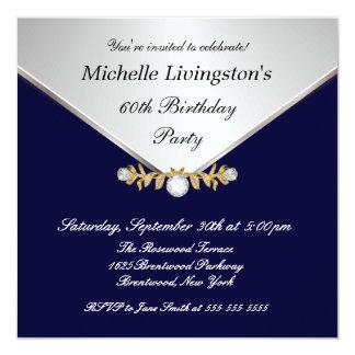 """Invitaciones para mujer del diamante de los azules invitación 5.25"""" x 5.25"""""""