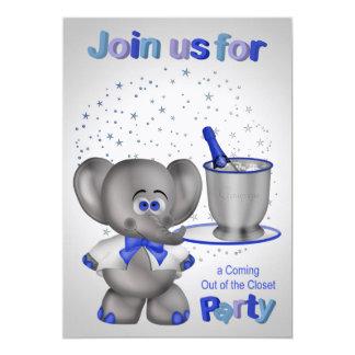 Invitaciones para salir del fiesta del armario invitación 12,7 x 17,8 cm