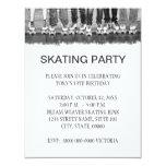 Invitaciones patinadoras del fiesta comunicados personalizados